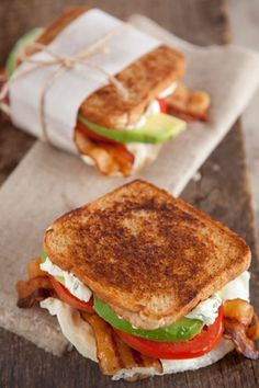 Paula Deen Fried Egg and Avocado Sandwich