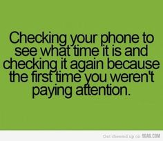 WOW.......I am so guilty of this