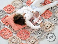 BIG scale handmade crochet rug ENTRE collection  por ENTREDESIGN