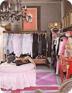 vintage clothes racks