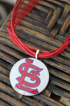 St Louis Cardinals pendant necklace.
