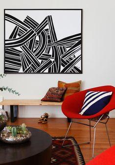living room + graphic art