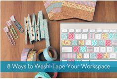 8 Ways to Washi Tape Your Workspace