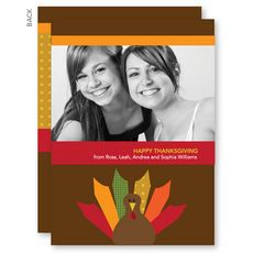 Bold Turkey Thanksgiving Photo Cards #StationeryStudio