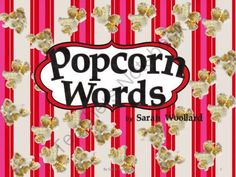 Popcorn Words K from Sarebear Creates on TeachersNotebook.com -  (26 pages)  - Popcorn Words contain a list of words from the -op family, on popcorn pieces with a popcorn box for storage.