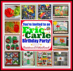 Eric Carle Birthday Party RoundUP of Children's Art at RainbowsWithinReach