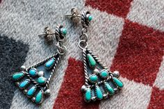 These are an excellent price!  Sweet vintage Zuni turquoise by BrooklynTraders, $62.00