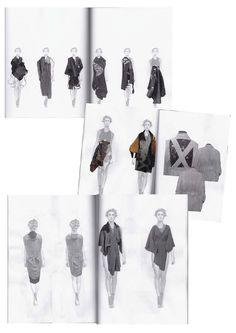 Fashion Sketchbook pages - draping development; fashion design process; fashion portfolio // Amanda Svart