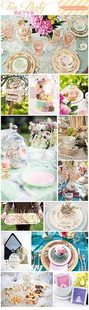 tea party wedding inspiration board