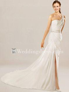 One-Shoulder Beach Wedding Dress BC761 | InWeddingDress