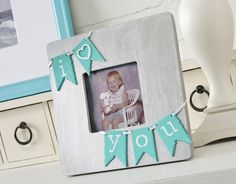 I Love You DIY bunting Valentine's Day picture frame