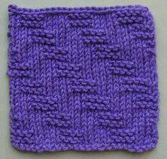 Garter Stitch Steps Knitting Stitch Pattern