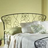 Found it at Wayfair - Rose Metal Headboard, I'm thinking about getting this one.