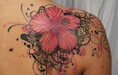 #Hibiscus flower #Tattoo