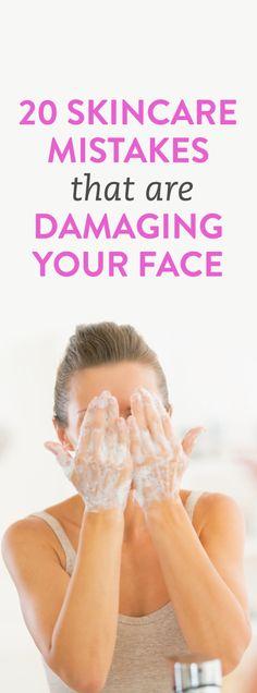 20 skincare mistakes