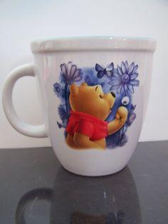 Winnie the Pooh coffee mug butterfly flowers DISNEY