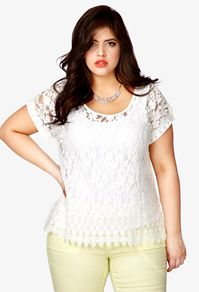 Ropa Tallas Grandes Mujeres en Forever 21 + embroid floral, fashion, lace tops, style, cloth, mint, floral lace, denis bidot, size
