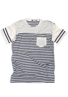 Love it! #menswear #style #stripes #pocket #t-shirt #tee