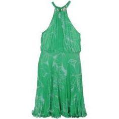 NOLITA Vestido verde al cuello