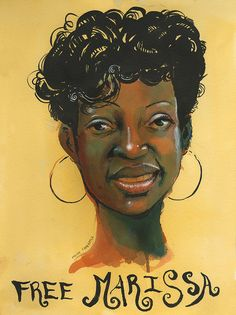 Marissa Alexander illustrates how the legal system can abuse domestic violence survivors. (Portrait of Marissa Alexander by Molly Crabapple.)
