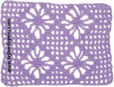 Galería de puntos fantasía en crochet (parte 4)