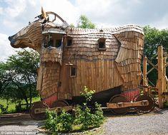 No bull: The 'Cheval de Troie' (Trojan Horse) as the magical La Balade Des Gnomes hotel in Belgium