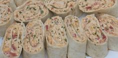 Mexican chicken salad pinwheels...yum.