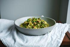 Orecchiette with Peas, Ham, Herbs + Garlic Breadcrumbs