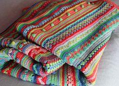 Ravelry: Mixed Stitch Stripey Blanket pattern by Julie Harrison