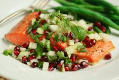 Salmon, Slow Roasted with Fennel & Pomegranate Salsa by onceuponaplate: This looks heavenly! #Salmon #Slow_Roasted_Salmon #onceuponaplate1
