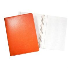 Orange Brights Leather Large Refillable Notebook