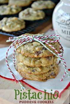 Pistachio Pudding Cookies. ☀CQ #christmas #sweets #treats #desserts. http://www.pinterest.com/CoronaQueen/christmas/