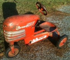 1950's pedal car toy tractor