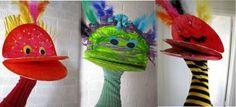 Make an alien paper plate puppet