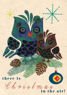 vintage holiday owls...