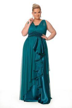 petrolium blue dress