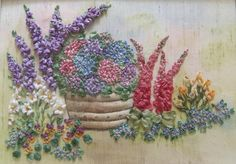 Summer Patio Garden with Pot Pattern and Print by lornabateman22, $19.95