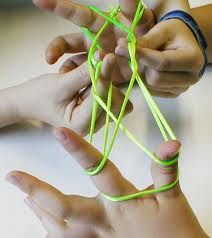 I played this string game for hours!  I think we called it cat's cradle?