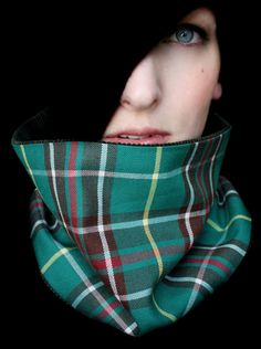 Green Scarf Neckwarmer Cowl for Men or Women by piprobins on Etsy