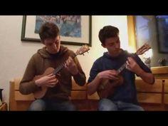 While my guitar gently weeps ukulele duet - YouTube