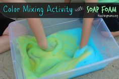 Color Mixing Activity with Soap Foam