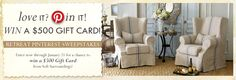 Love it. Pin it. Win a $500 Gift Card! Enter for a chance to win a $500 from Soft Surroundings.