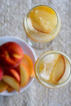 Homemade peach wine coolers