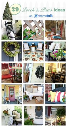29 ways to dress up your porch or patio this spring! Curated by @A T The Picket Fence