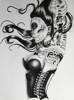 Day of the Dead Pin Up