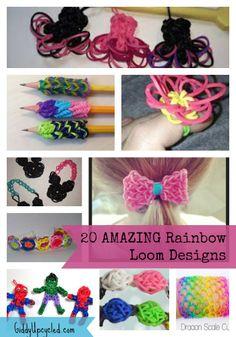 rainbowloom, charm, rainbow loom, party dresses, loom design