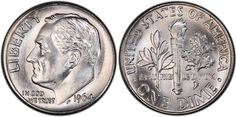 DIME 1946-1964 ROOSEVELT #Coin.