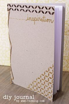 seven thirty three - - - a creative blog: Make Your Own Journal featuring Mod Podge Rocks! Stencils