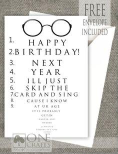 Funny Eye Exam Birthday Card : Customized Handmade Greeting Card