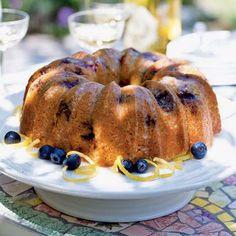Glazed Lemon-Blueberry Poppy Seed Bundt Cake | CookingLight.com